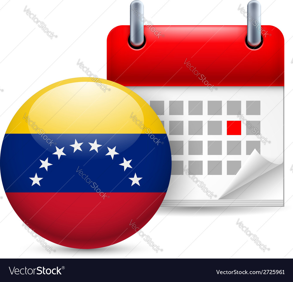 Icon of national day in venezuela vector | Price: 1 Credit (USD $1)