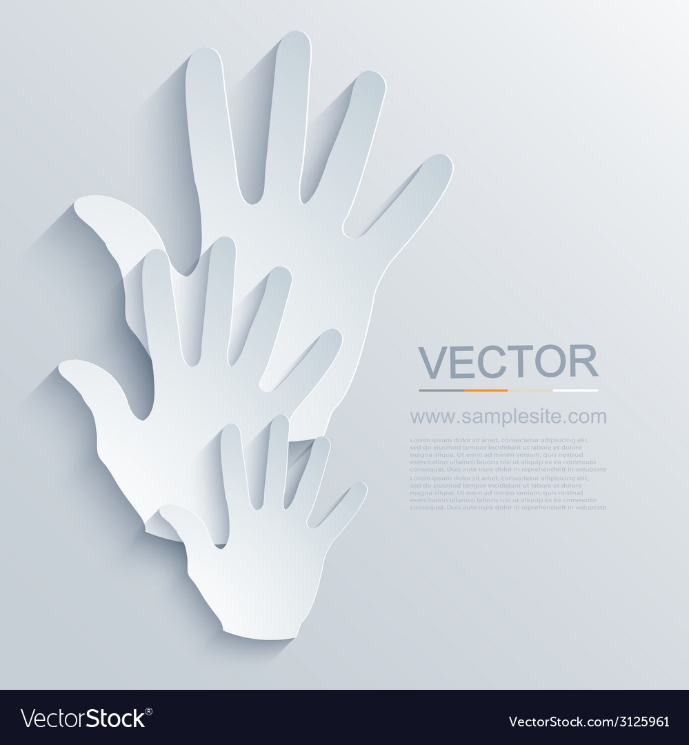 Modern hands icon background vector | Price: 1 Credit (USD $1)