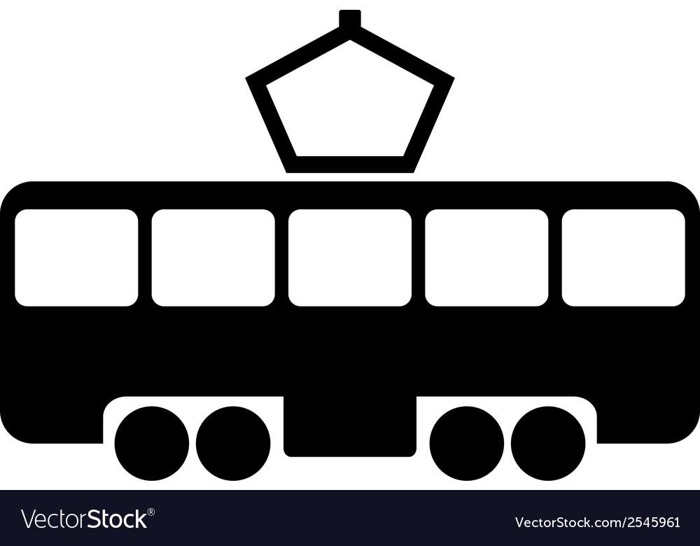 Tram icon vector | Price: 1 Credit (USD $1)