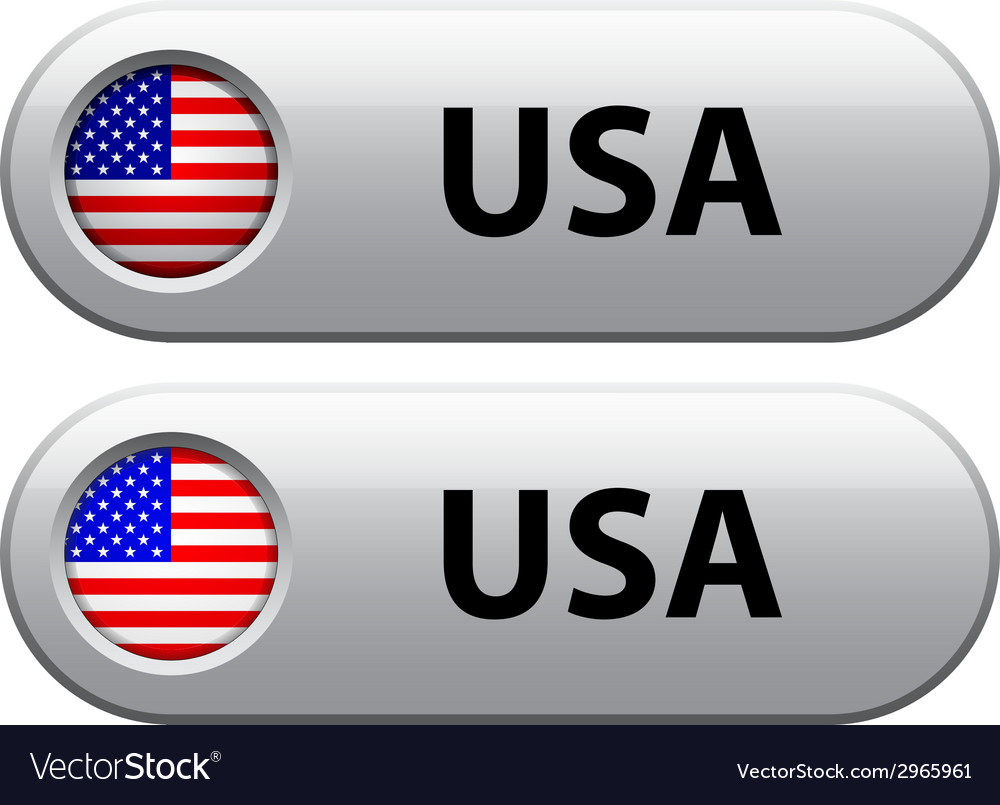 Usa flag buttons vector | Price: 1 Credit (USD $1)
