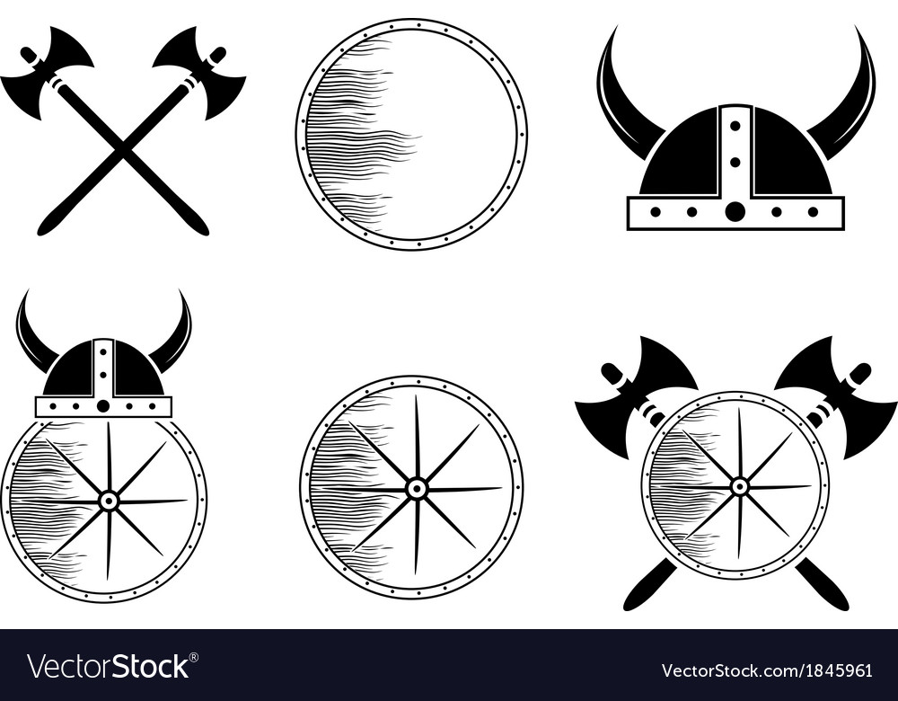 Viking set vector | Price: 1 Credit (USD $1)