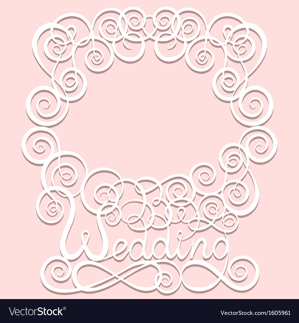Wedding paper pattern frame vector | Price: 1 Credit (USD $1)