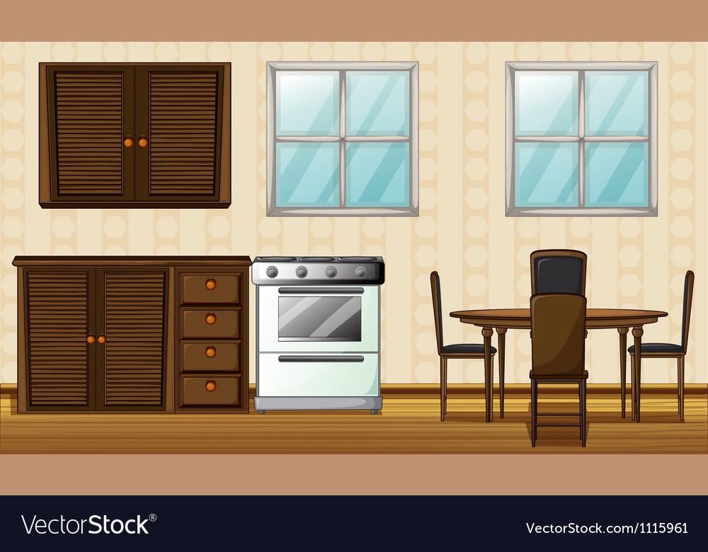 Wooden furniture and windows vector | Price: 1 Credit (USD $1)
