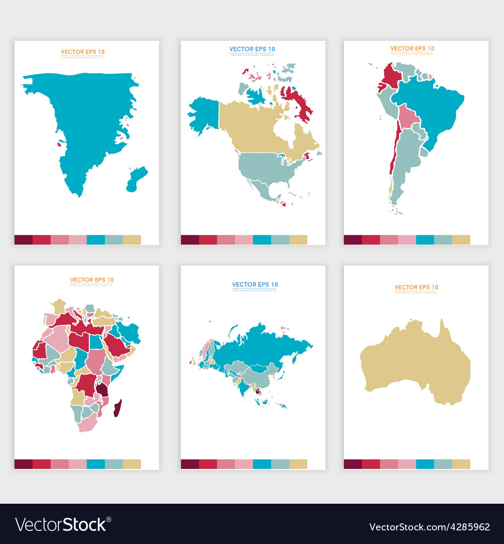 Abstract political map vector | Price: 1 Credit (USD $1)