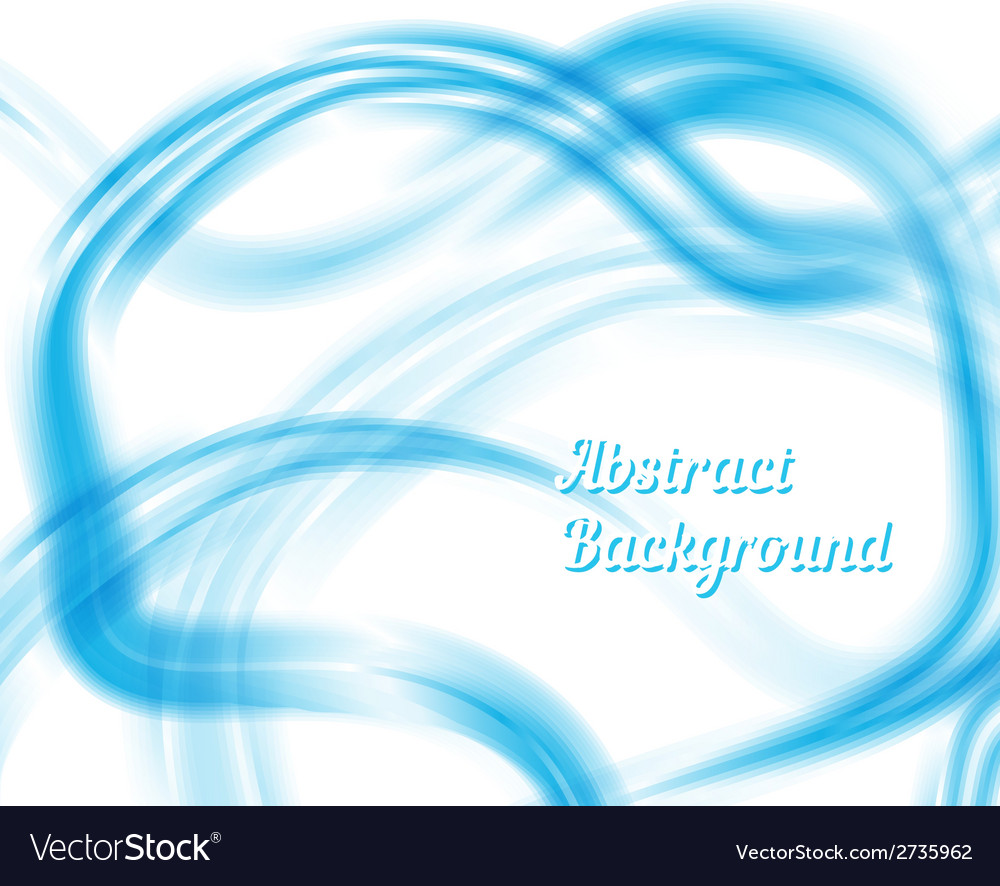 Blue and white waves abstract design vector | Price: 1 Credit (USD $1)