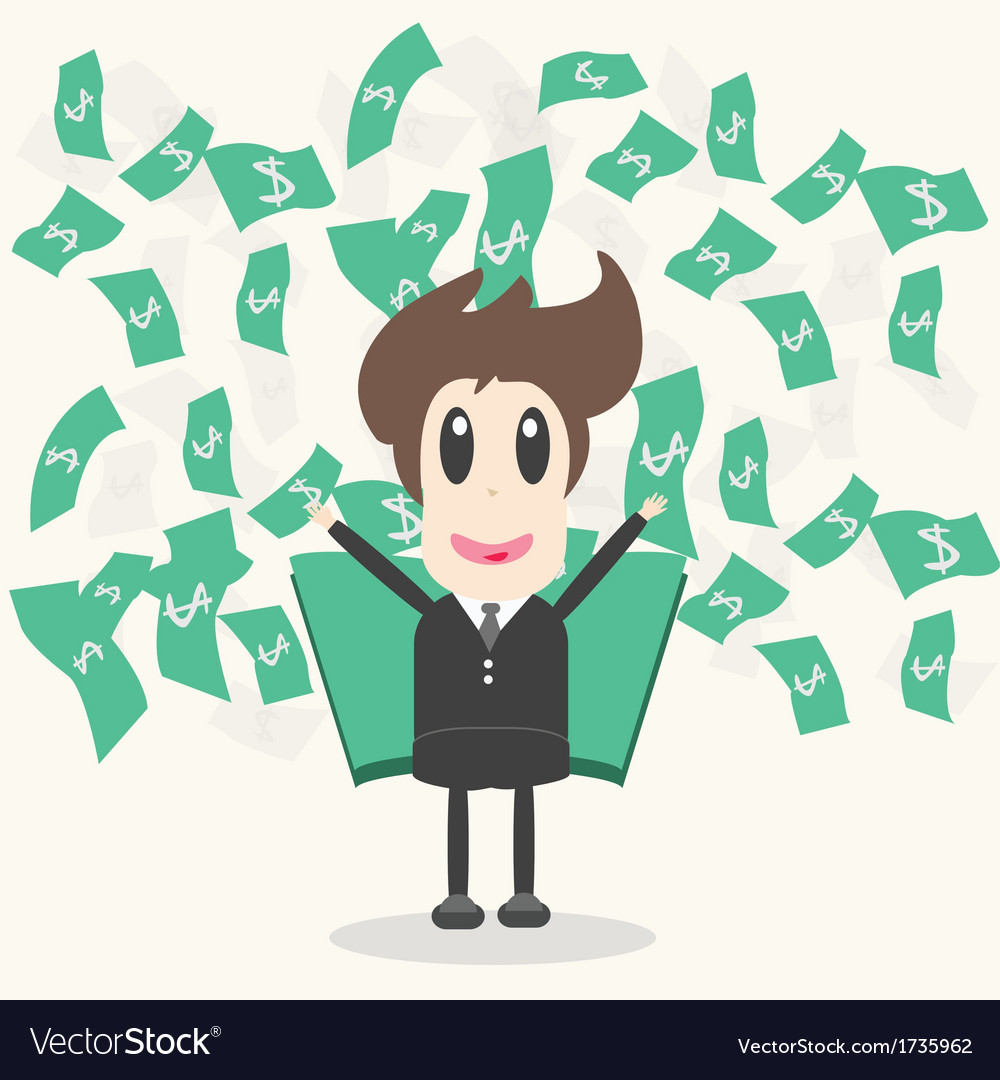 Business man with money vector | Price: 1 Credit (USD $1)