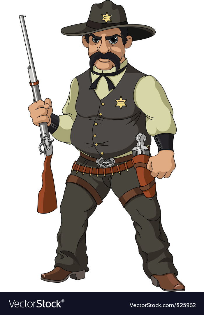 Cartoon sheriff vector | Price: 3 Credit (USD $3)
