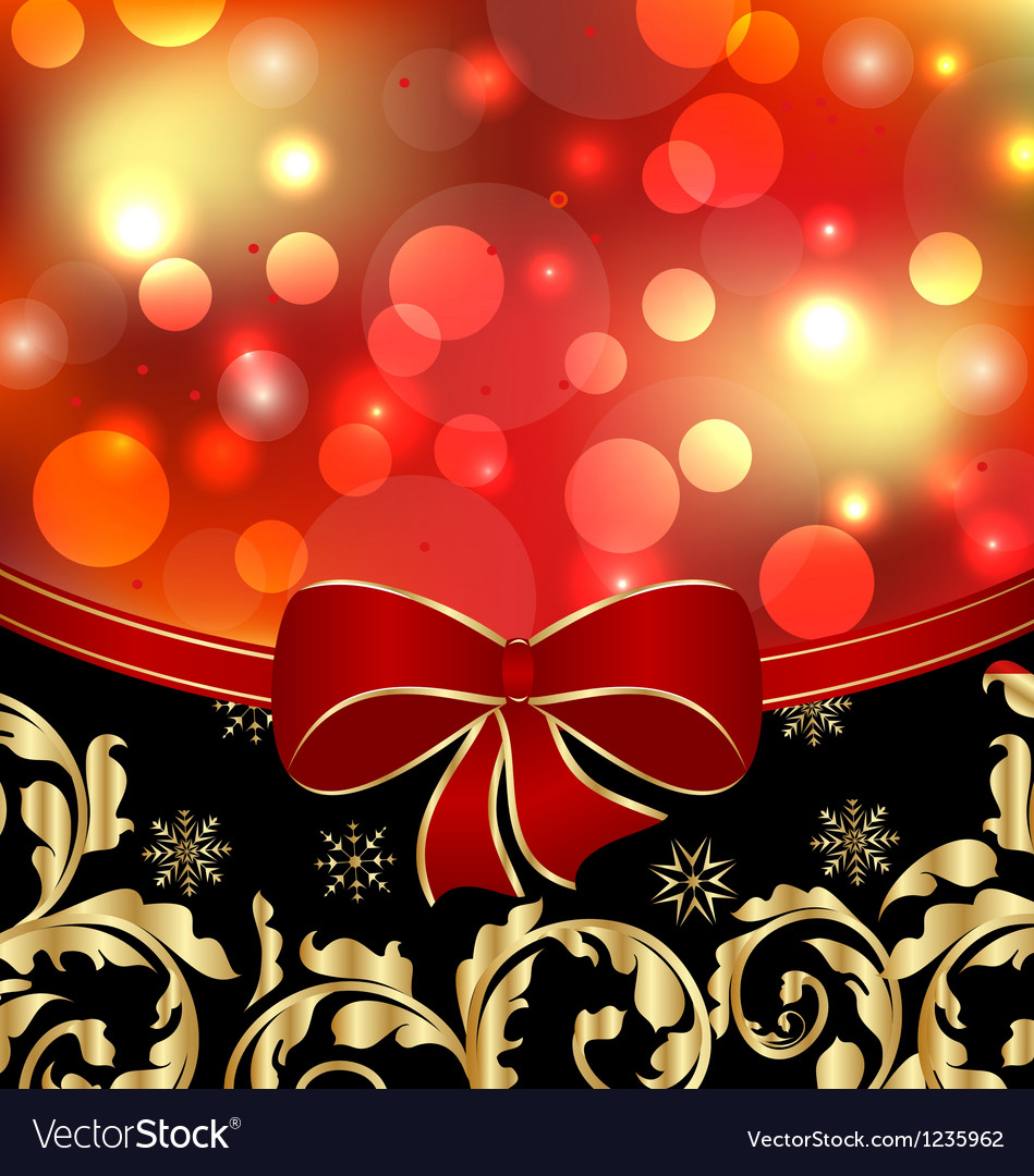 Christmas floral ornamental decoration for design vector | Price: 1 Credit (USD $1)