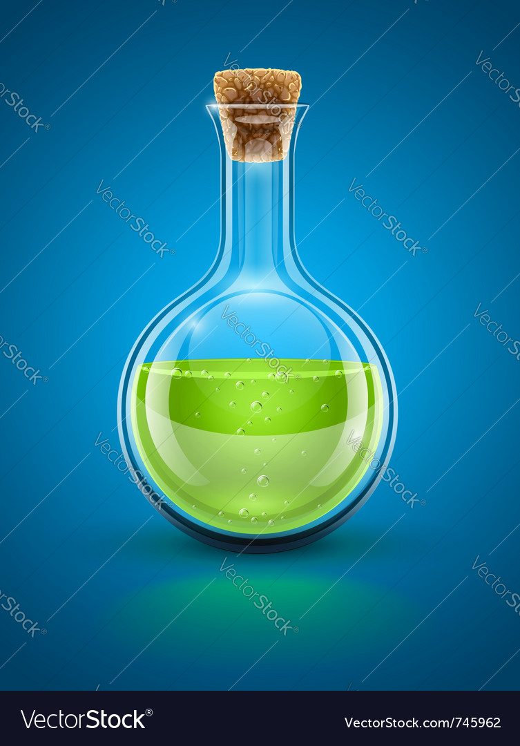 Glass chemical flask vector | Price: 3 Credit (USD $3)