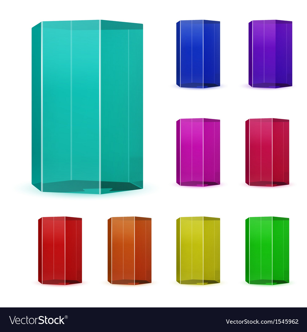 Glass prisms vector | Price: 1 Credit (USD $1)