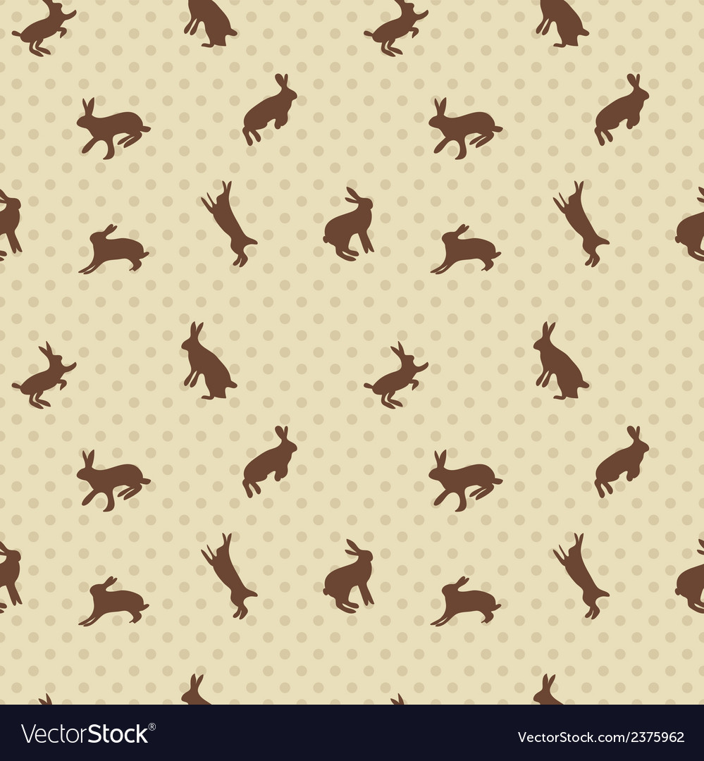 Hare rabbit seamless texture vector | Price: 1 Credit (USD $1)