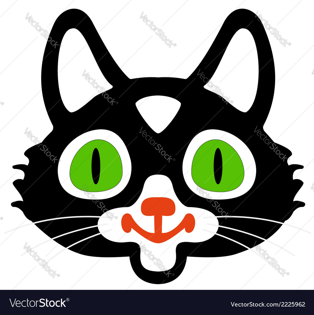 Head of black cats vector | Price: 1 Credit (USD $1)