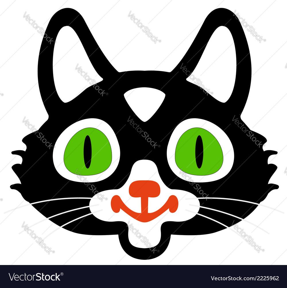 Head of black cats vector | Price: 1 Credit (USD $1)