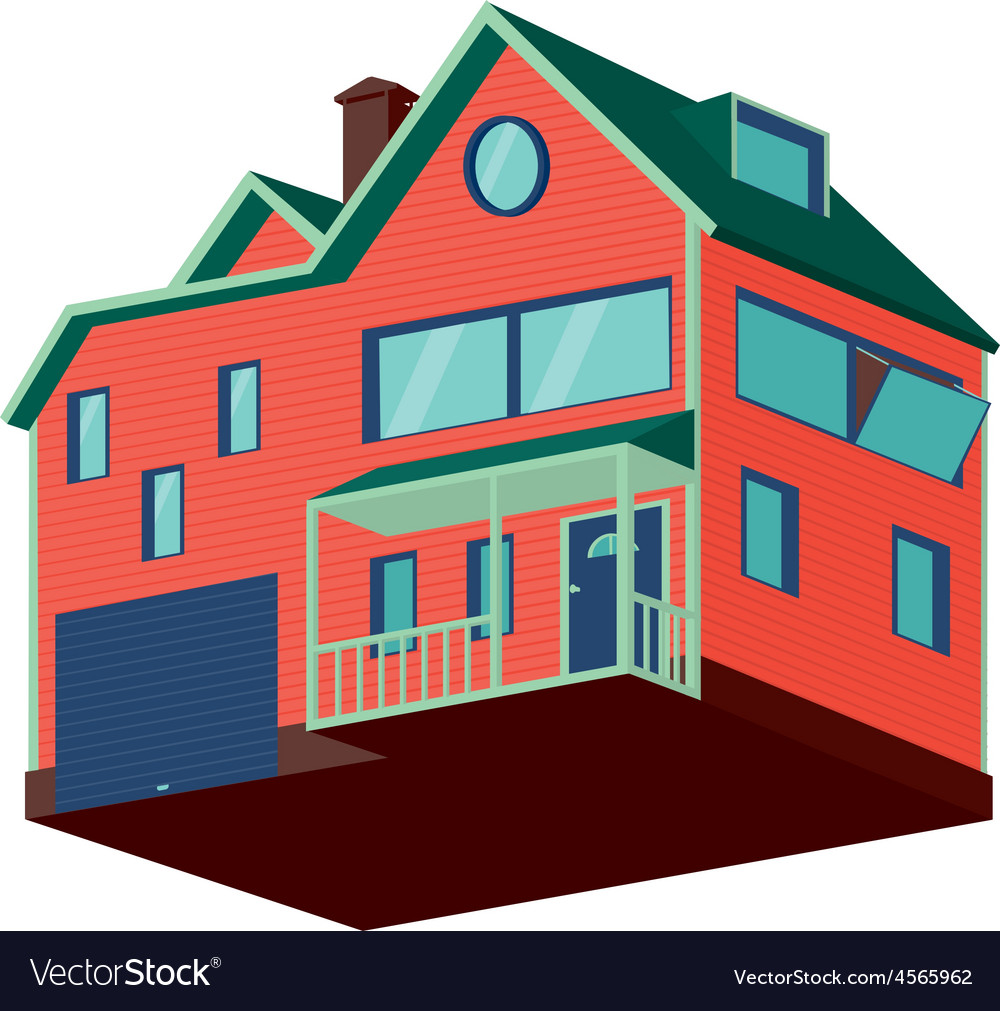 Isolated house vector | Price: 1 Credit (USD $1)