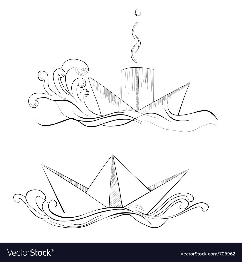Sketch of hand drawn ship vector   Price: 1 Credit (USD $1)