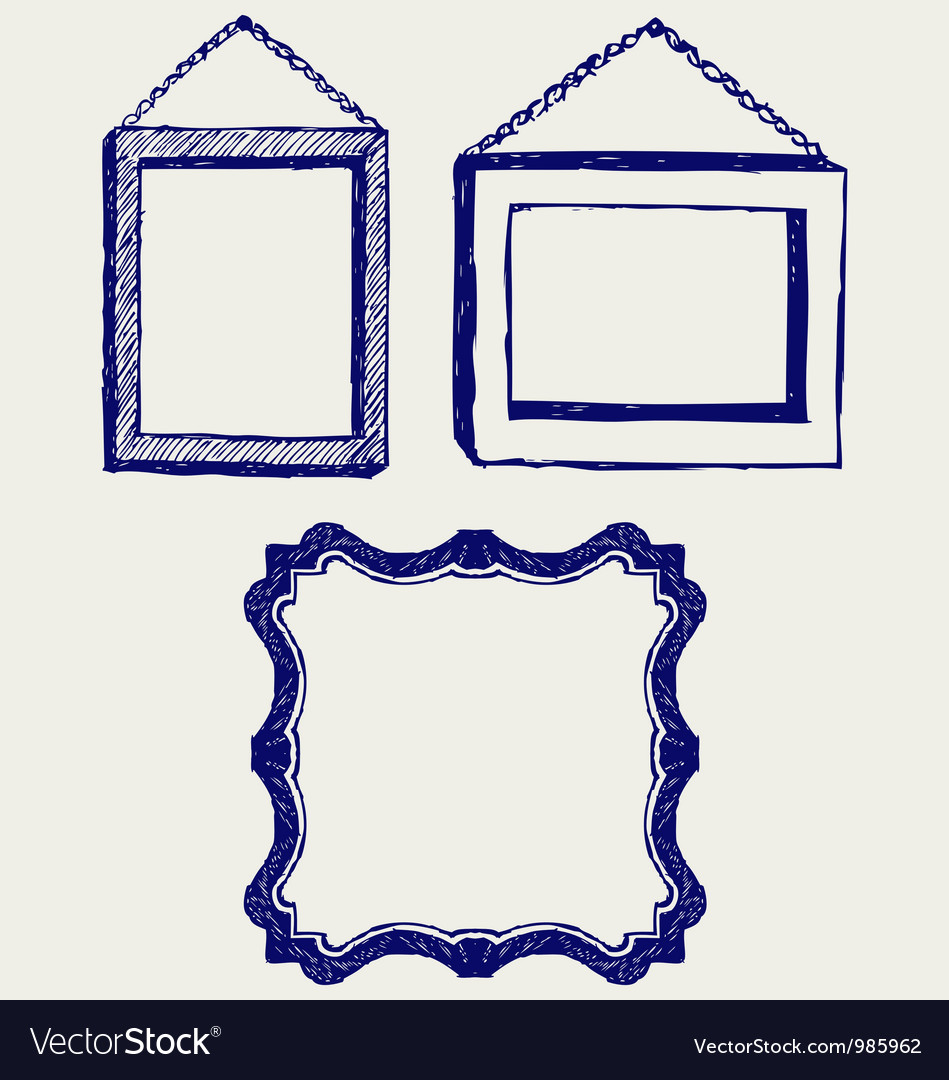 Three empty frame vector | Price: 1 Credit (USD $1)