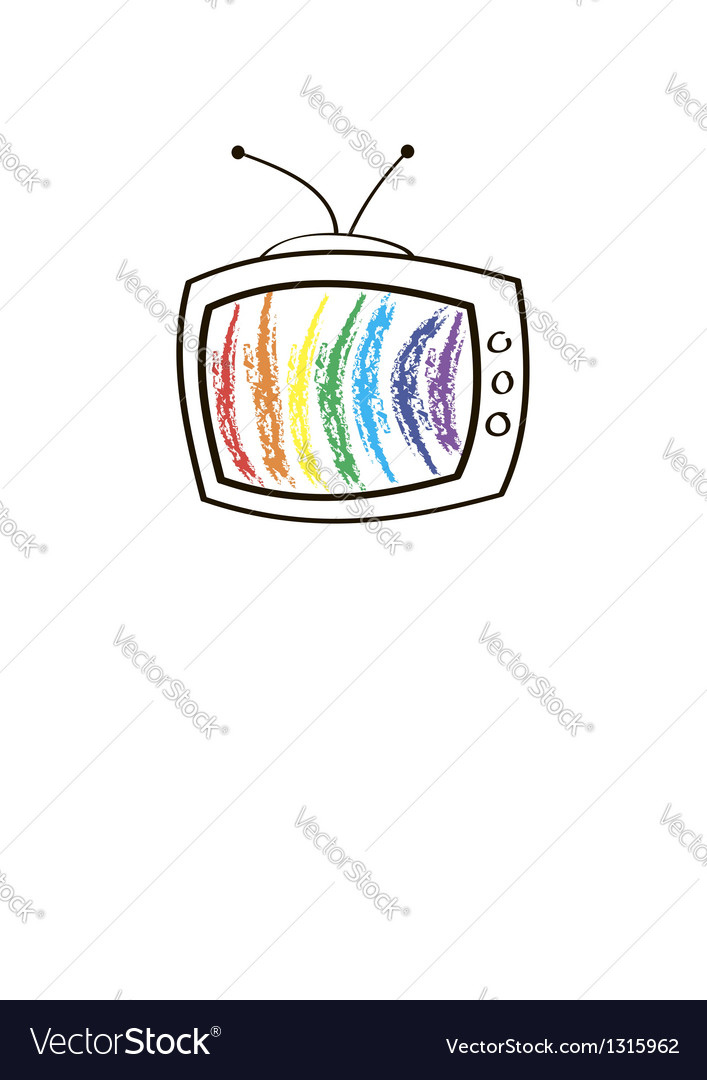 The tv set vector | Price: 1 Credit (USD $1)