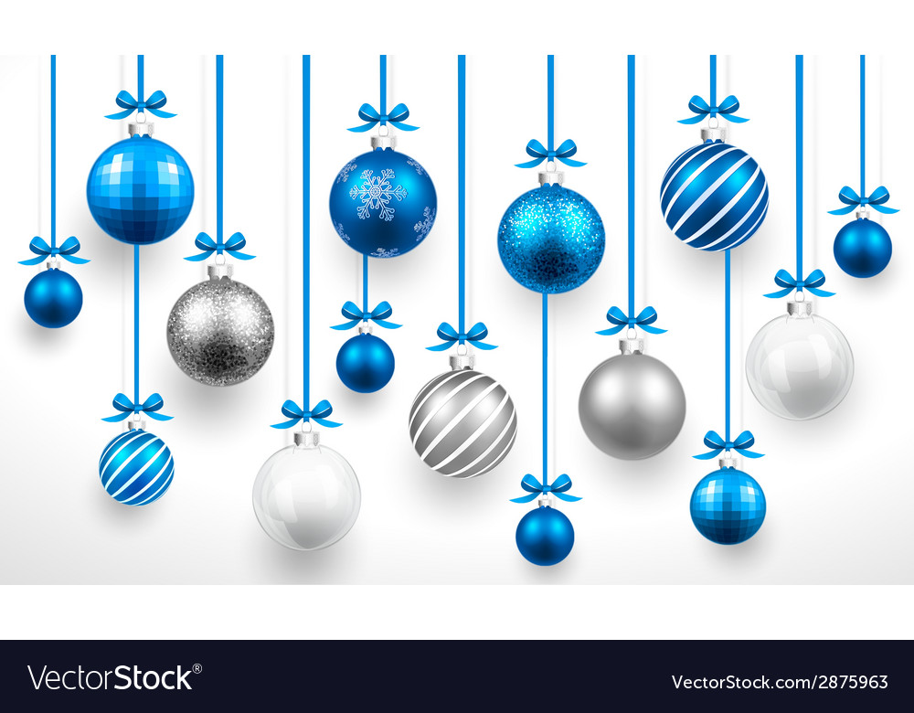 Christmas blue balls vector | Price: 1 Credit (USD $1)