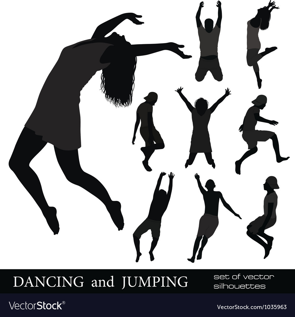 Dancing and jumping vector | Price: 1 Credit (USD $1)