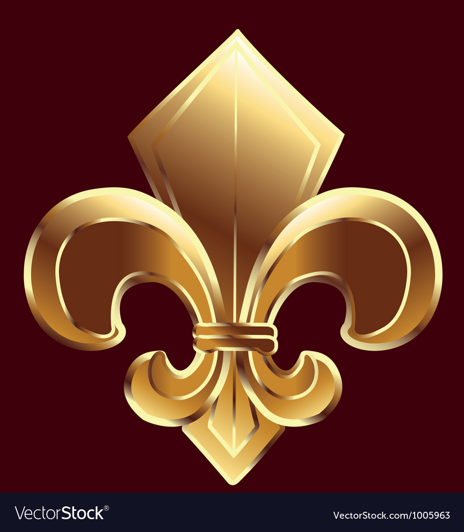 Gold fleur de lis symbol vector | Price: 1 Credit (USD $1)