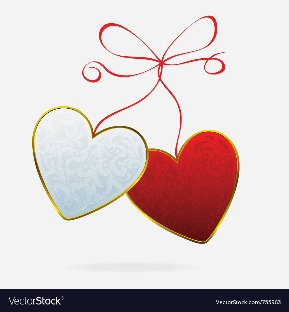 Hearts bound vector | Price: 1 Credit (USD $1)