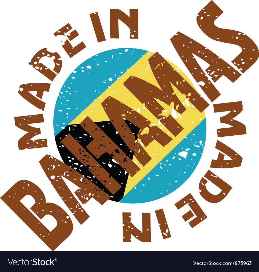 Label made in bahamas vector | Price: 1 Credit (USD $1)