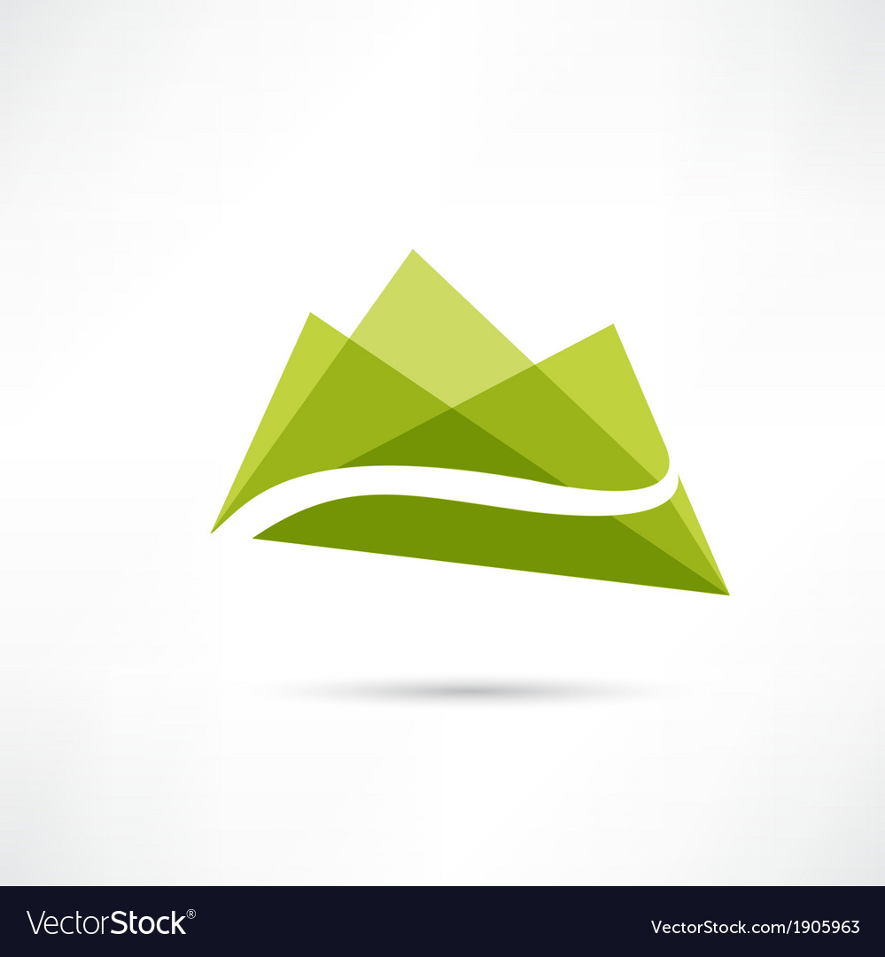 Landscape in the mountains icon vector | Price: 1 Credit (USD $1)