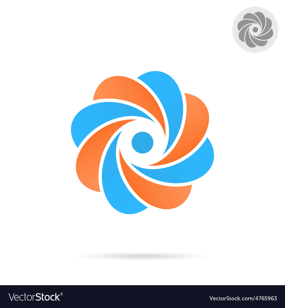 Segmented circle - o letter concept vector | Price: 1 Credit (USD $1)