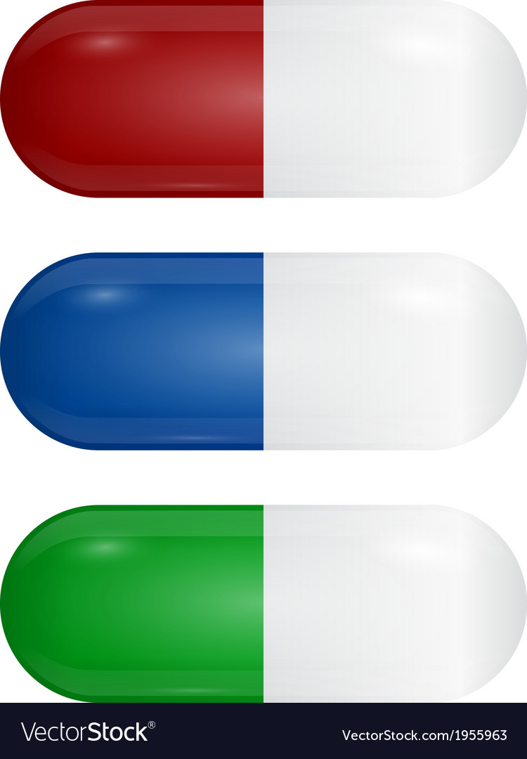 Set of colored pills vector | Price: 1 Credit (USD $1)