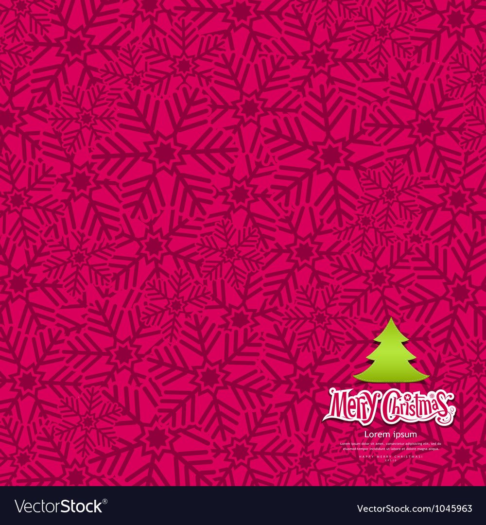 Snow flakes texture design on pink background vector   Price: 1 Credit (USD $1)