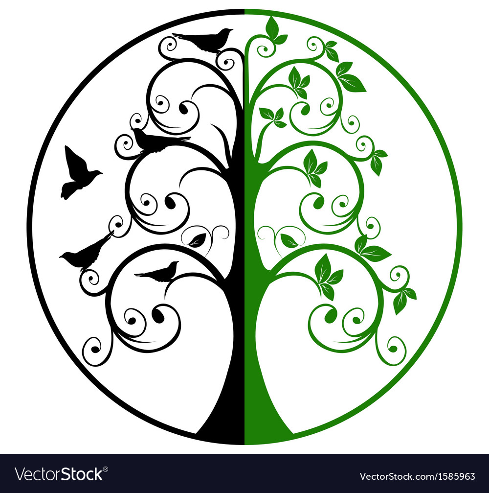 Tree of life and death vector | Price: 1 Credit (USD $1)