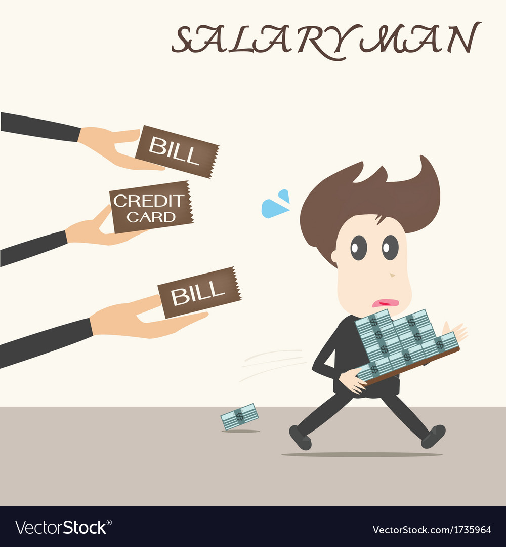 Bill payment business man vector | Price: 1 Credit (USD $1)