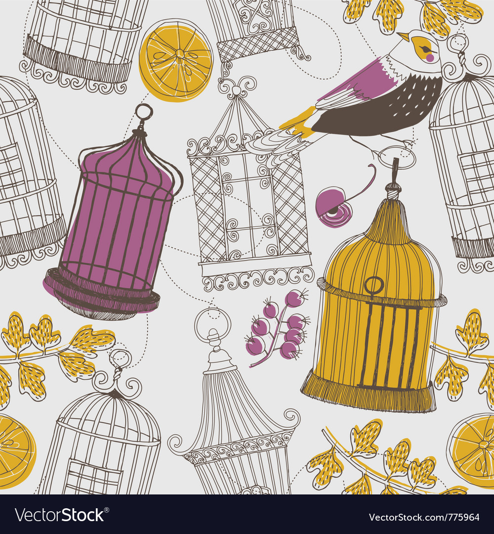 Cages drawing wallpaper vector | Price: 1 Credit (USD $1)