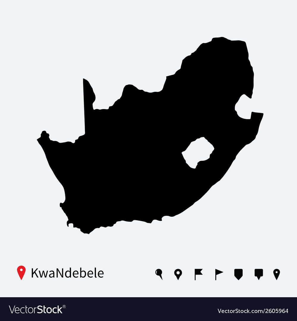 High detailed map of kwandebele with navigation vector | Price: 1 Credit (USD $1)