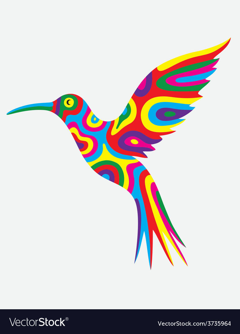 Humming bird colorfully vector | Price: 1 Credit (USD $1)