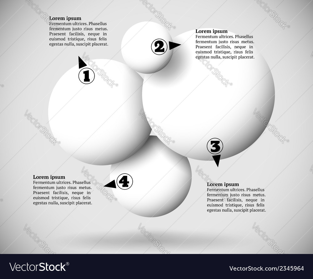 Infographics with group of flying balls vector | Price: 1 Credit (USD $1)