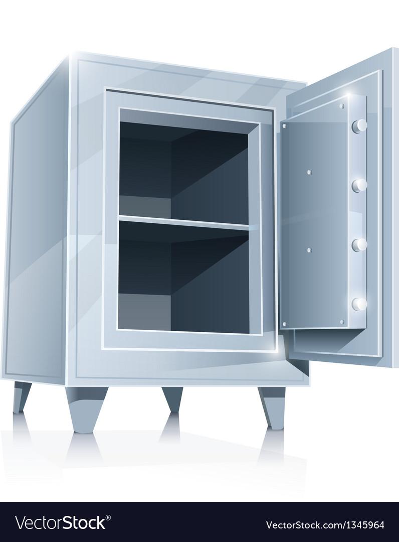 Open empty metallic safe vector | Price: 1 Credit (USD $1)