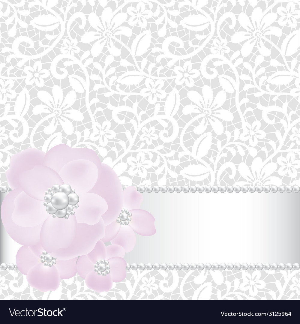 Pearls and roses vector | Price: 1 Credit (USD $1)