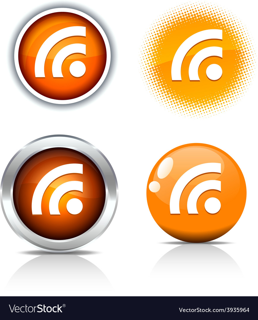 Rss buttons vector | Price: 1 Credit (USD $1)