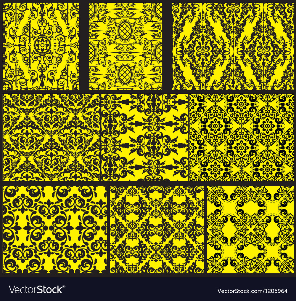Set of antique seamless patterns vector | Price: 1 Credit (USD $1)