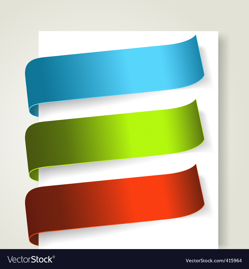 Set of colorful textile labels vector | Price: 1 Credit (USD $1)