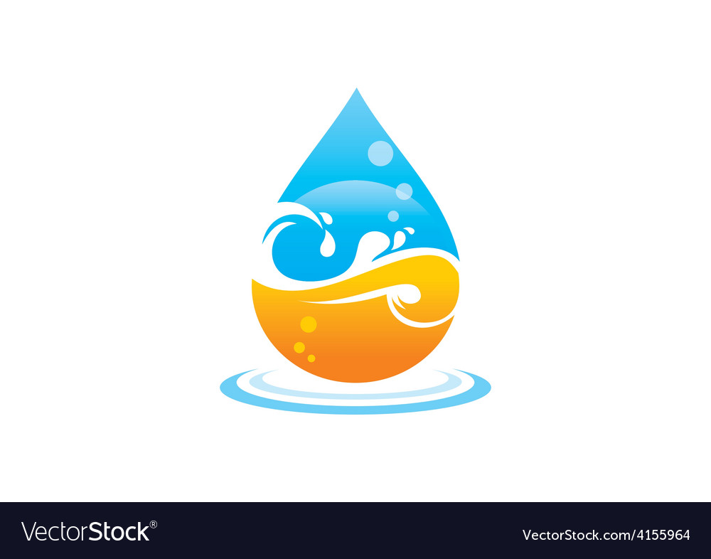 Wave water drop abstract logo vector | Price: 1 Credit (USD $1)