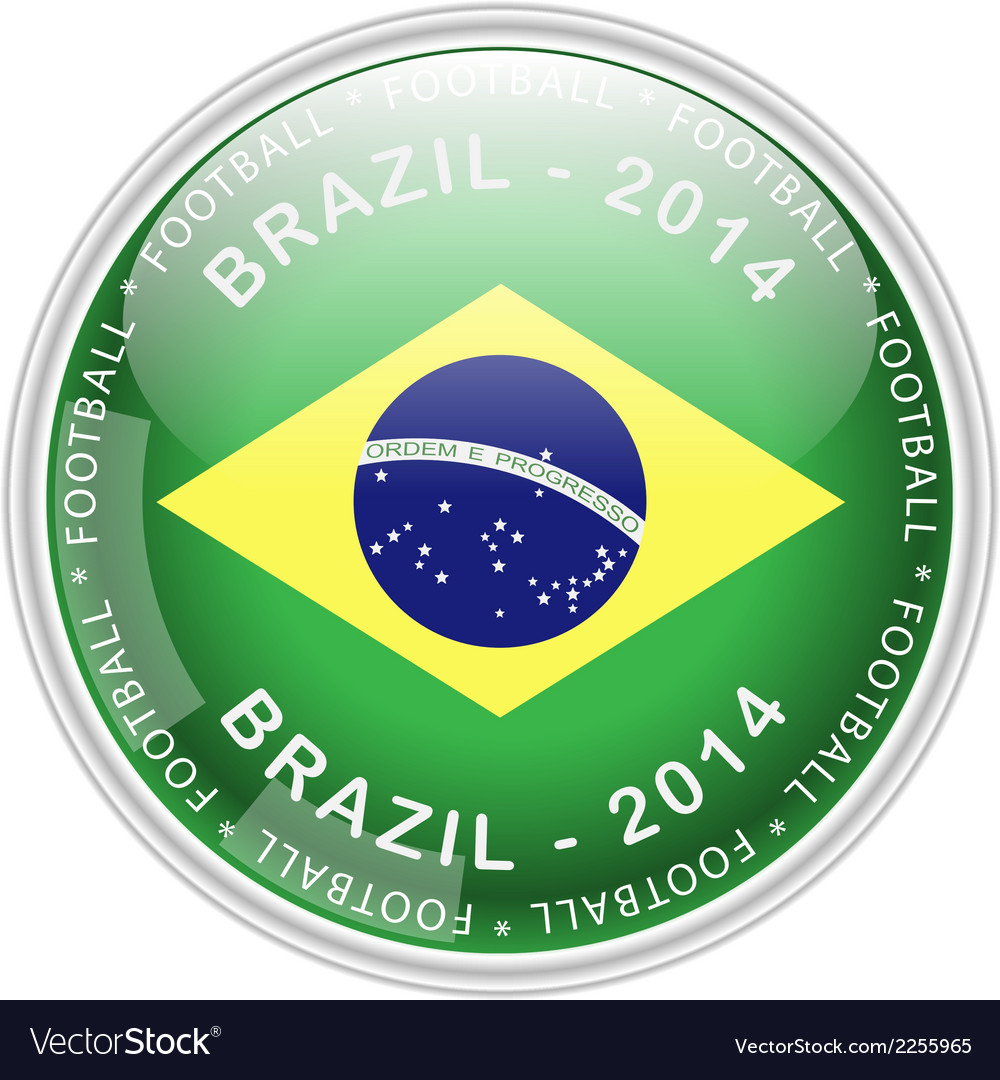 Brazil button vector | Price: 1 Credit (USD $1)