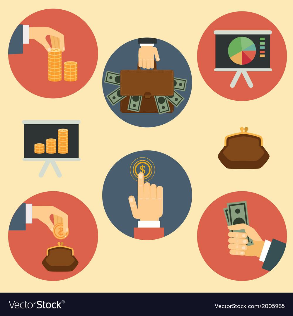Finance money and analytics vector | Price: 1 Credit (USD $1)