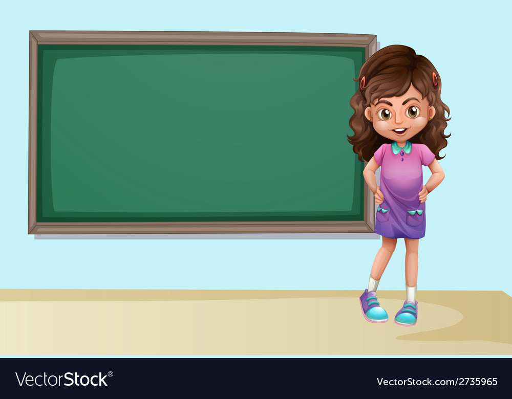 Girl and board vector | Price: 1 Credit (USD $1)