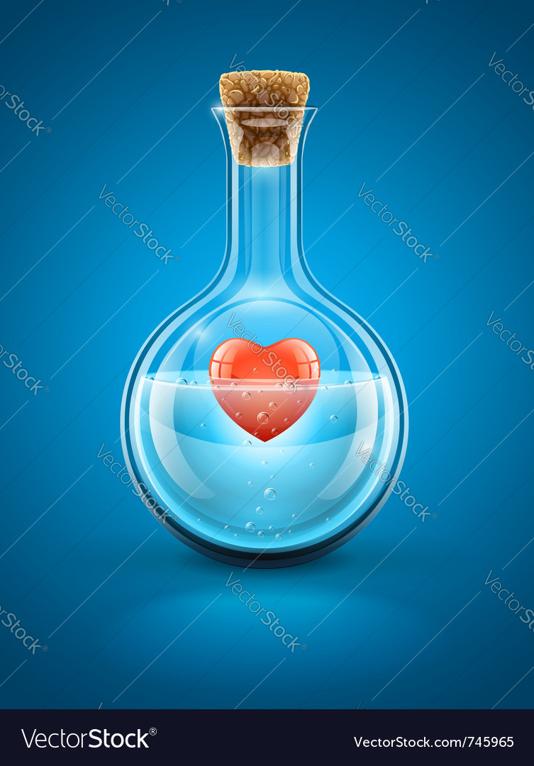 Glass flask bottle vector | Price: 3 Credit (USD $3)