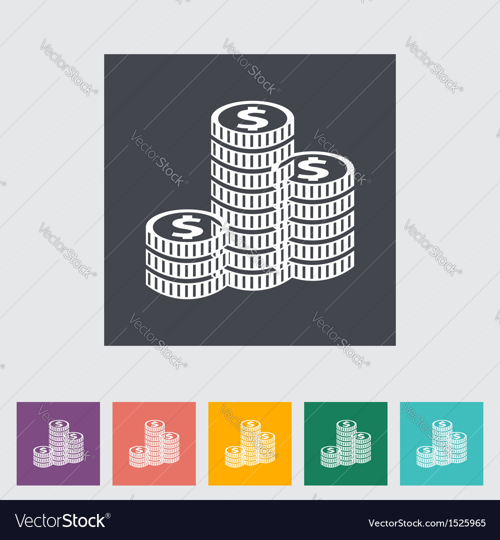 Icon coins vector | Price: 1 Credit (USD $1)