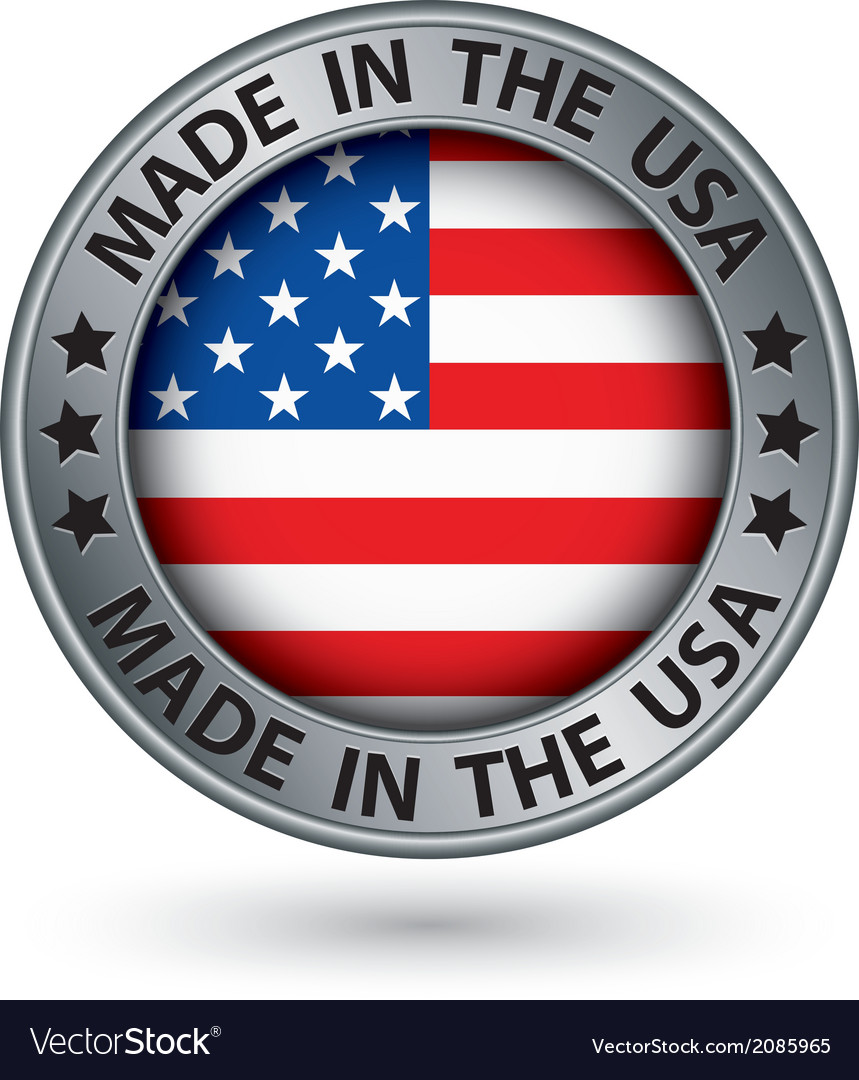 Made in the usa silver label vector | Price: 1 Credit (USD $1)