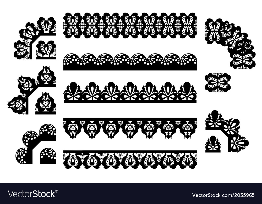 Set of lace trims vector | Price: 1 Credit (USD $1)