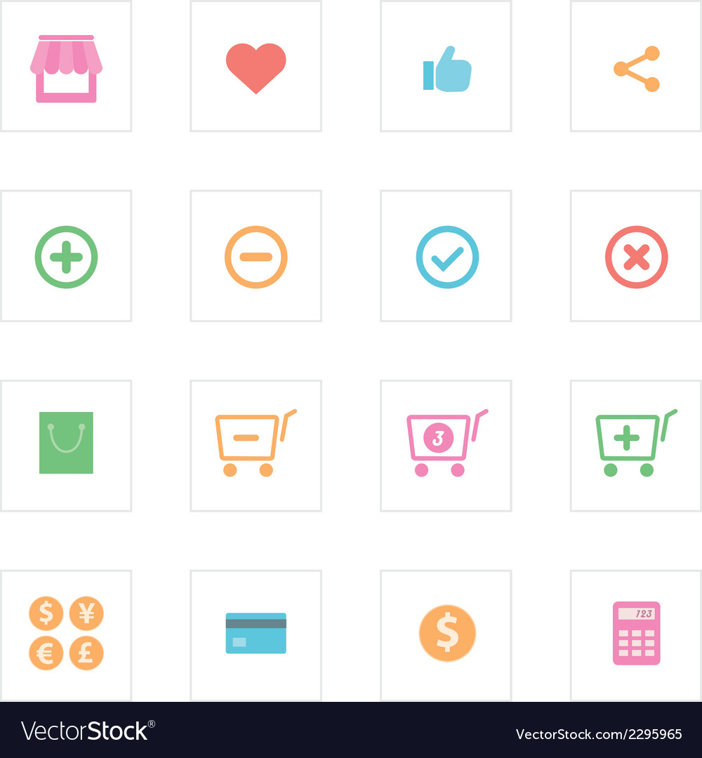 Shopping icon set design vector | Price: 1 Credit (USD $1)